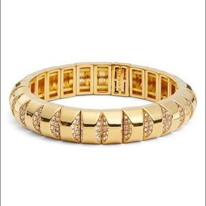kate spade sliced scallops pavé stretch bracelet